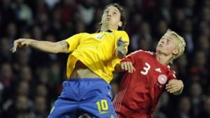 Denmark Sweden Ibrahimovic Kjaer 2009
