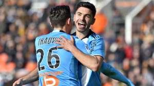 Morgan Sanson Florian Thauvin Lorient Marseille Ligue 1 05032017
