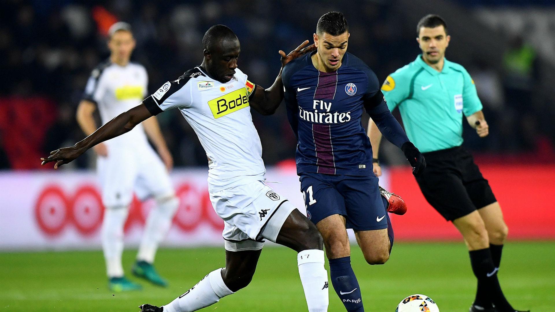 Yoann Andreu Hatem Ben Arfa PSG Angers Ligue 1 30112016