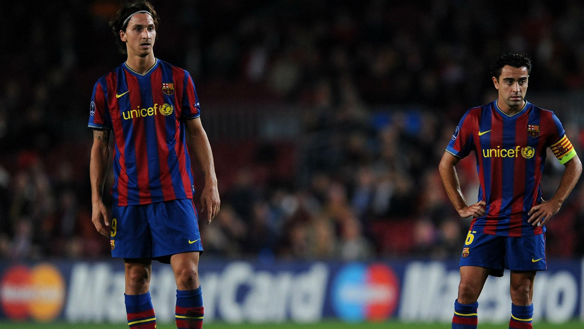 Ibrahimovic Xavi Barcelona