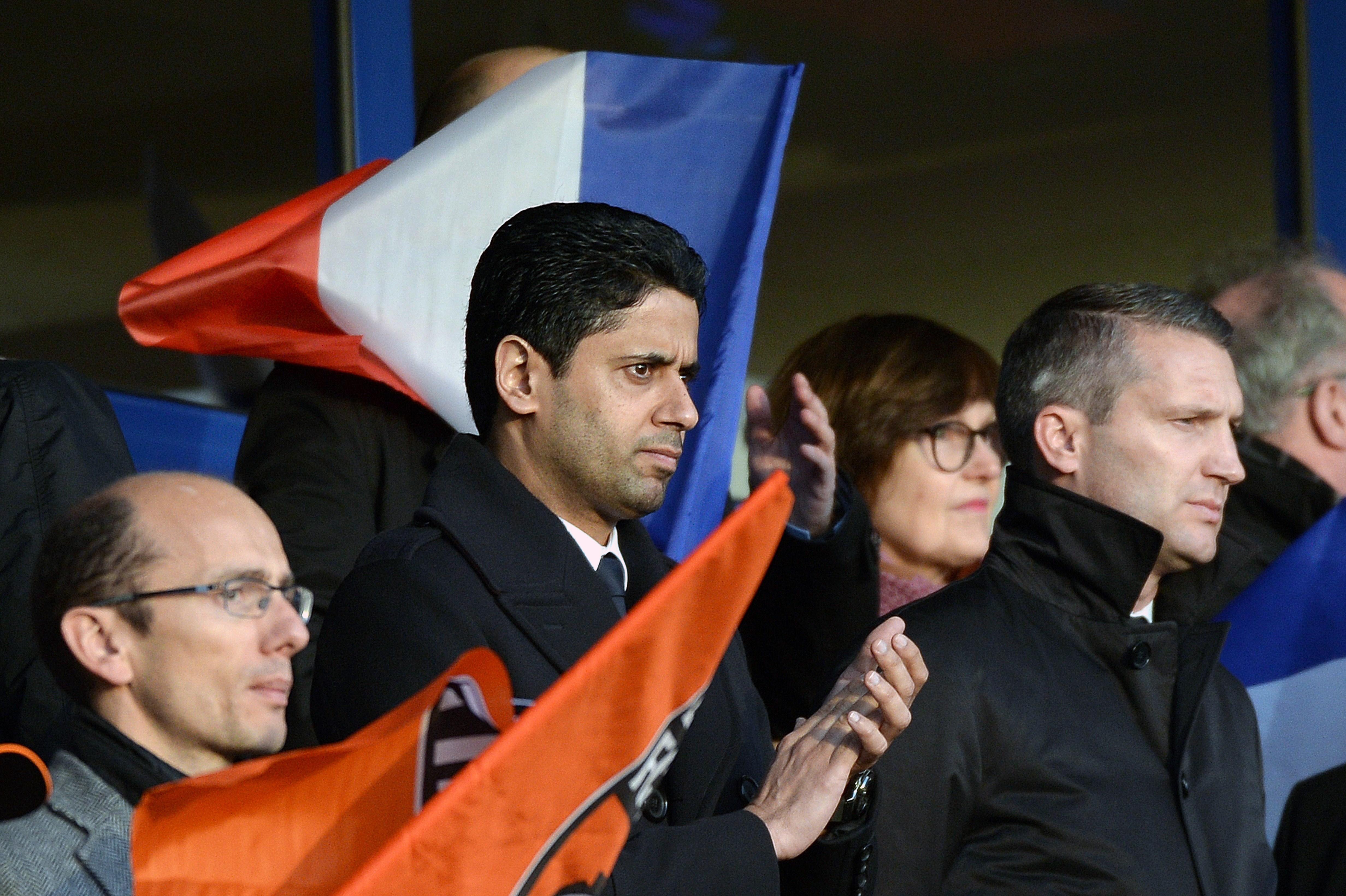 Nasser Al-Khelaifi and Olivier Letang