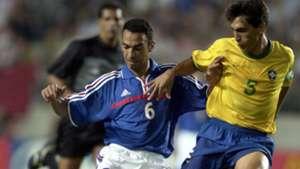 Youri Djorkaeff Leomar France Brazil Confederations Cup 2001