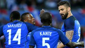 Olivier Giroud Patrice Evra France Scotland Friendly 04062016