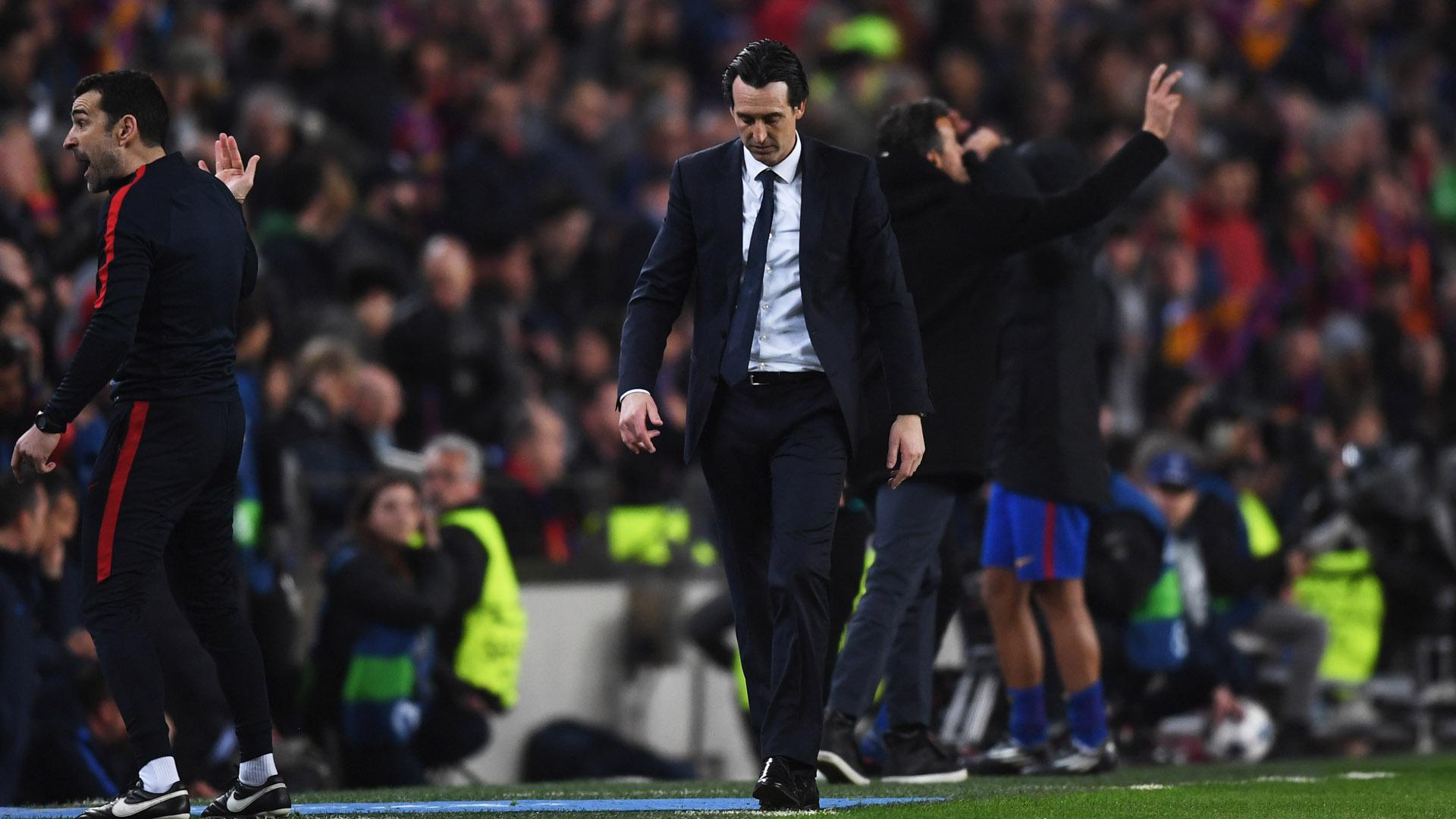 Barça PSG Champions League Barcelona Paris Saint-Germain Unai Emery