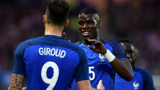 Paul Pogba Olivier Giroud France Cameroon Friendly 30052016