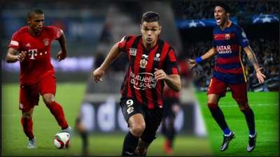Costa, Ben Arfa, Neymar dribbleurs