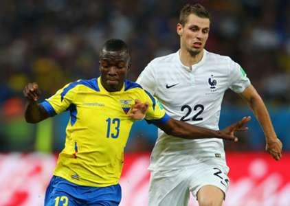 Morgan Schneiderlin Enner Valencia Ecuador France World Cup 2014 06252014