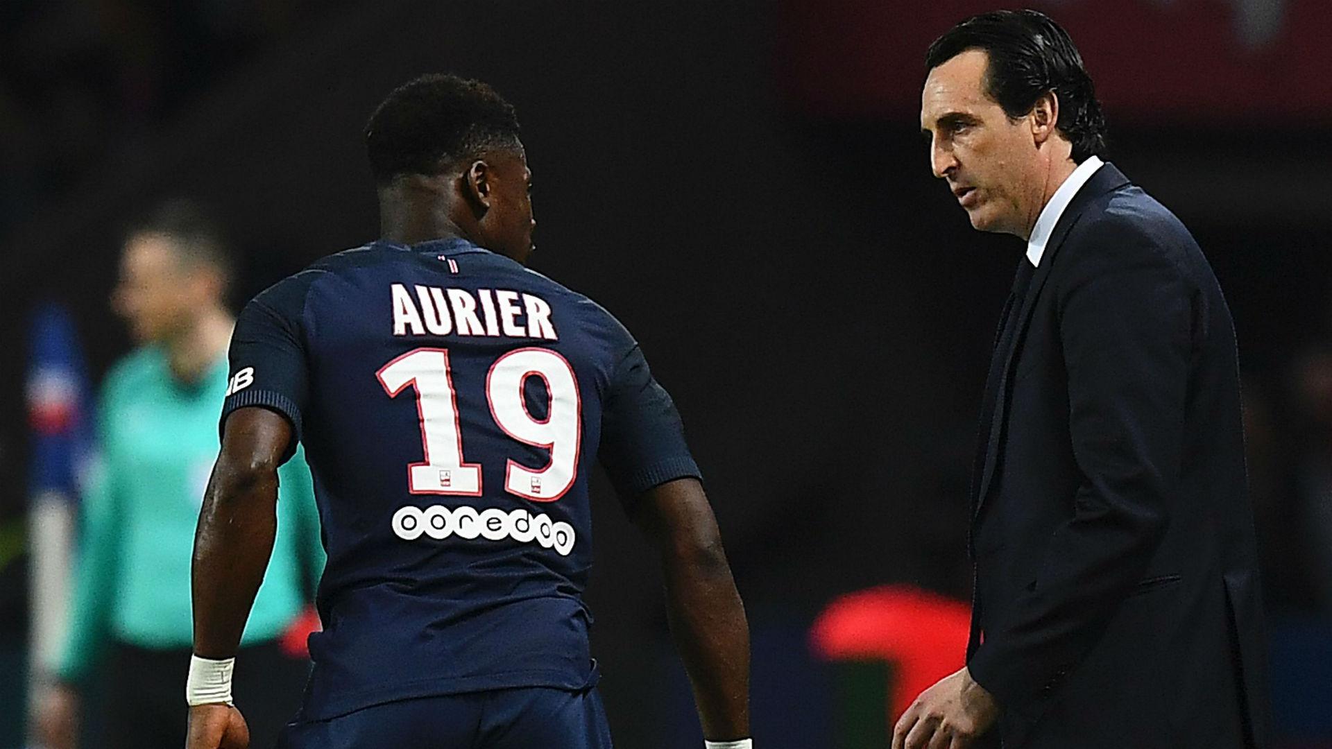 Unai Emery Serge Aurier PSG Lyon Ligue 1 19032017