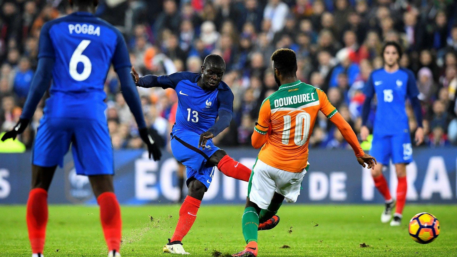 NGolo Kante France Ivory Coast Friendly 15112016