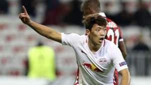 Hee Chan Hwang Red Bull Salzburg Nice UEFA Europa League 03112016