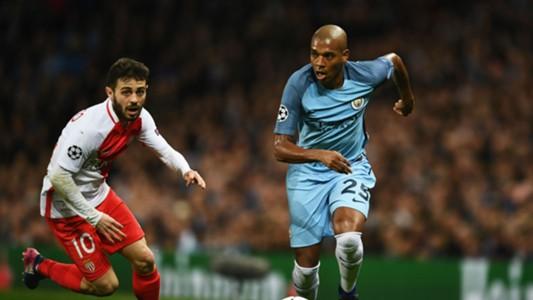 Bernardo Silva Fernandinho Manchester City Monaco Champions League 21022017