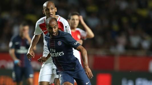 Lucas Moura Fabinho AS Monaco Paris SG Ligue 1 28082016