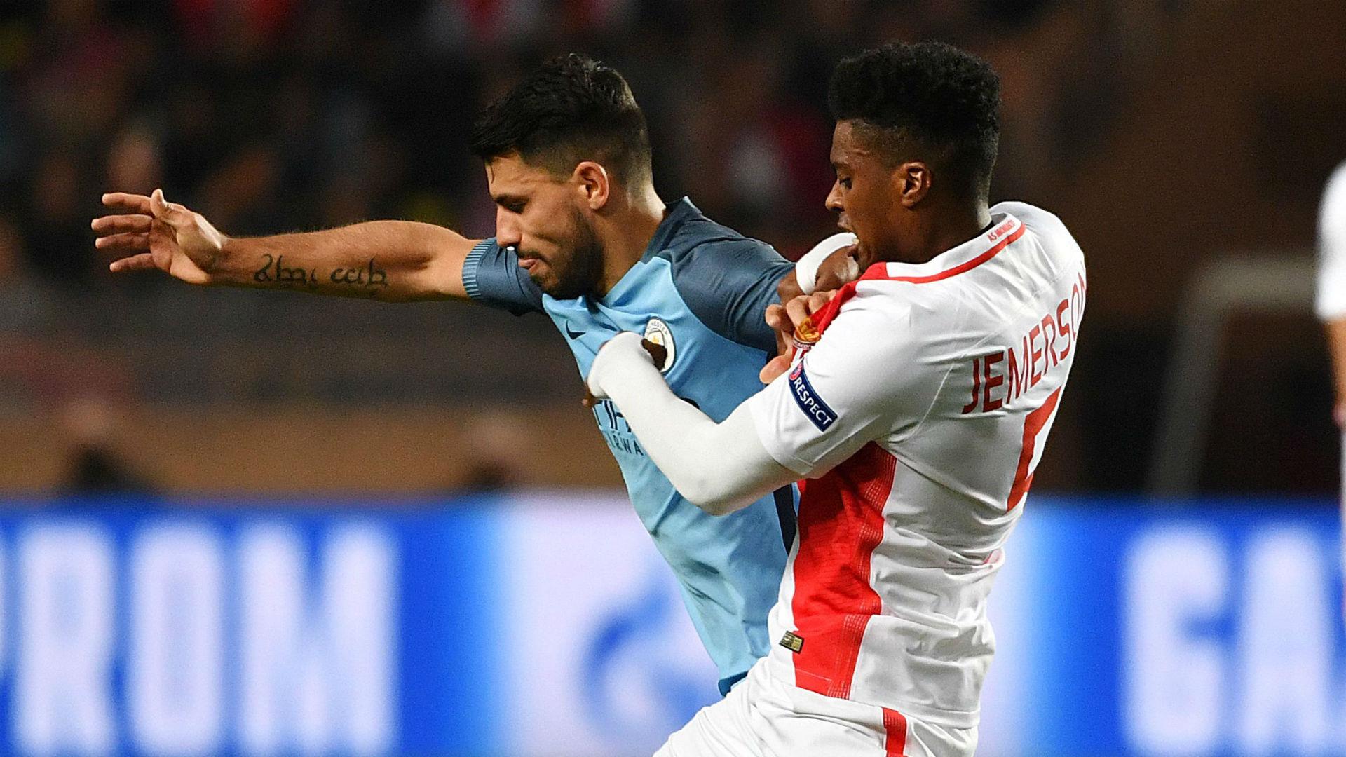 Jemerson Sergio Aguero Monaco Manchester City Champions League 15032017