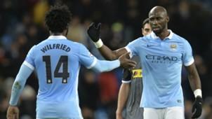 Wilfried Bony Eliaquim Mangala manchester City