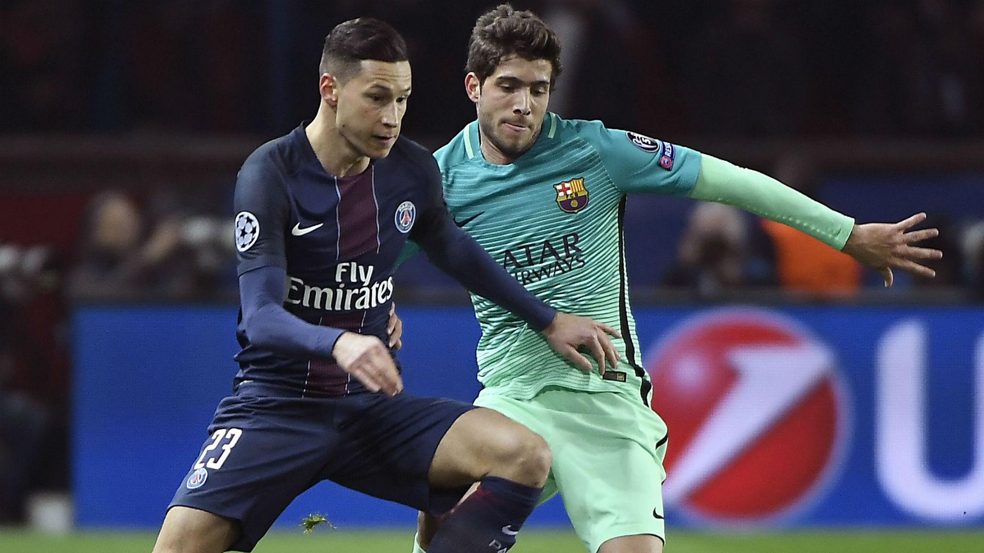 Julian Draxler Sergi Roberto Paris SG FC Barcelona UEFA Champions League 14022017