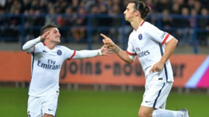 Verratti Ibrahimovic Caen PSG Ligue 1 2015