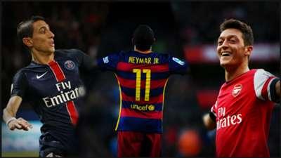 Montage Di Maria, Neymar, Ozil