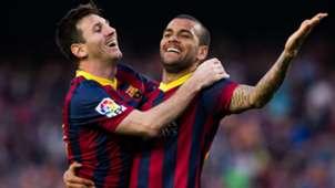 Barcelona - Dani Alves Lionel Messi
