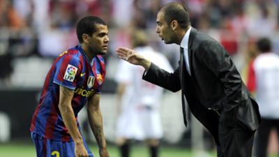 Dani Alves Pep Guardiola