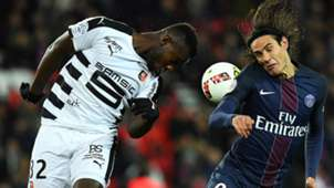 Edinson Cavani Joris Gnagnon Paris SG Rennes Ligue 1 06112016