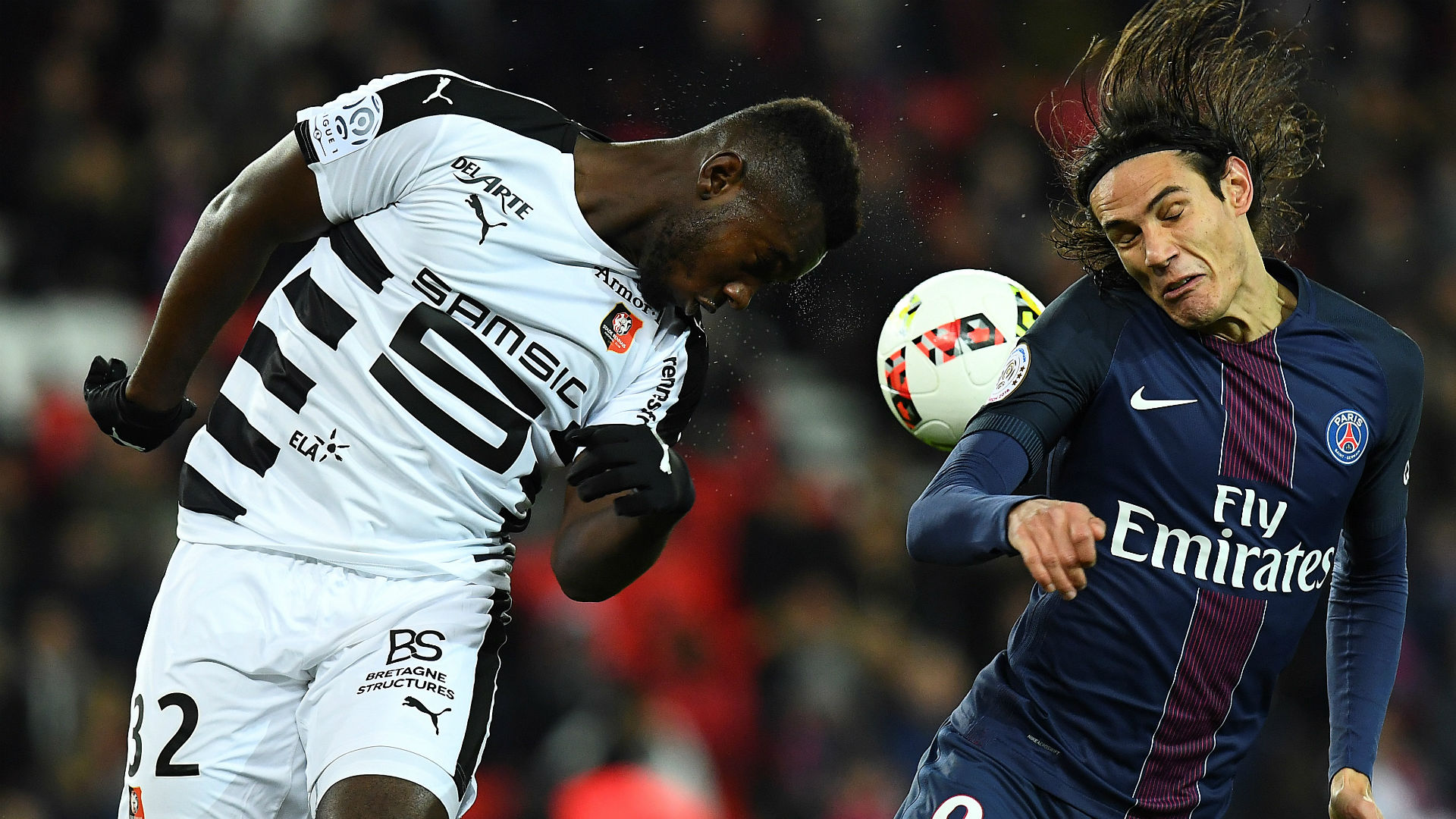 Edinson Cavani Joris Gnagnon Paris SG Rennes Ligue 1 06112016