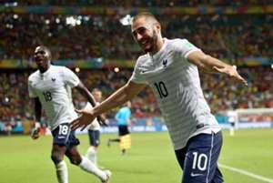 Karim Benzema Moussa Sissoko Switzerland France FIFA World Cup 2014 06202014