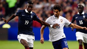 Paul Pogba Andre Gomes France Portugal Friendly 11102014