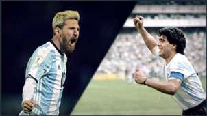 Montage Messi Maradona