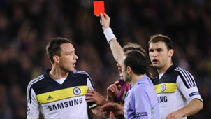 John Terry red card Barcelona Chelsea 24042012 UCL