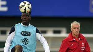 France national team training Pogba Deschamps