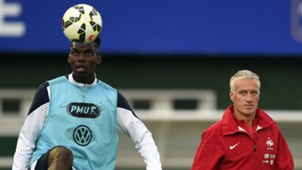 France national team training Pogba Deschamps