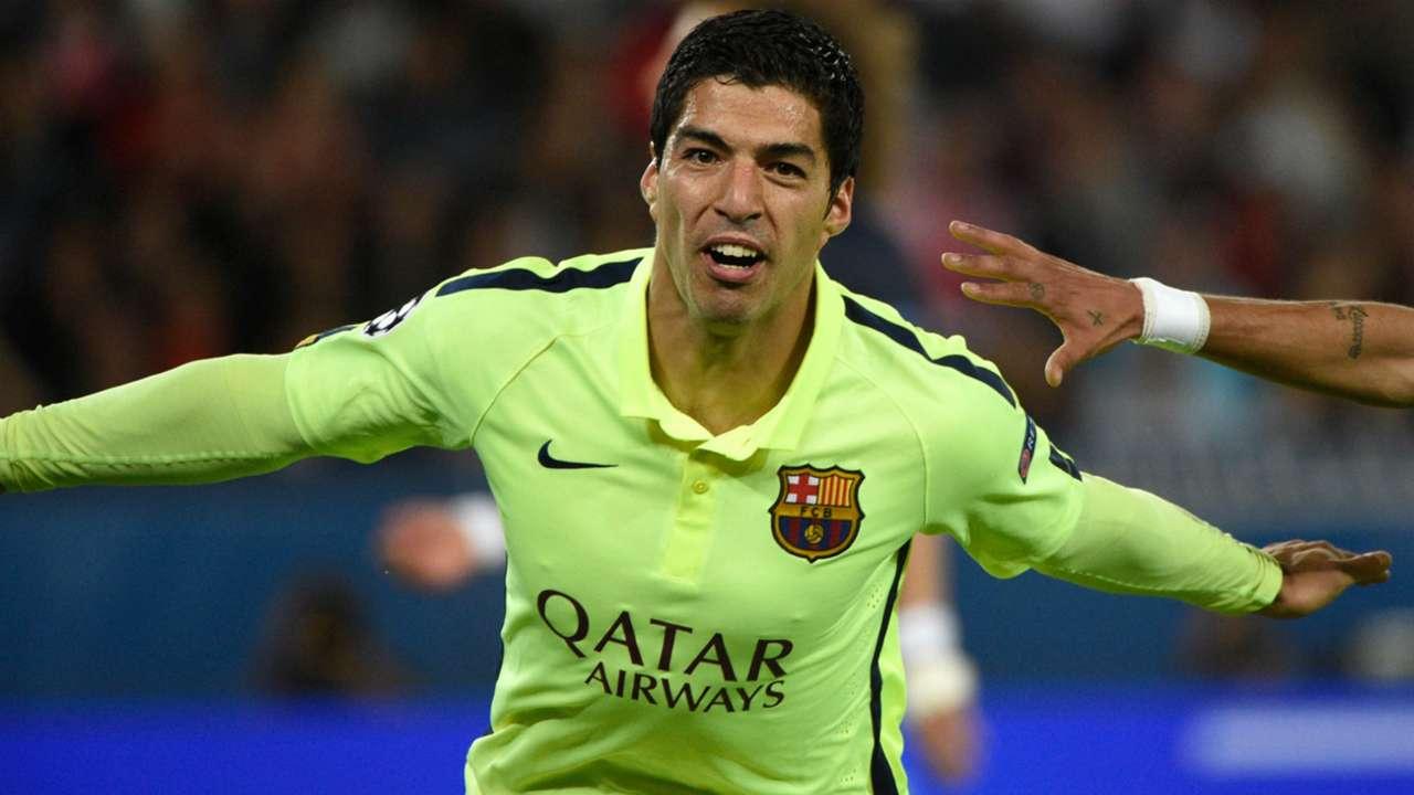 Luis Suarez Paris SG Barcelona UEFA Champions League 15042015