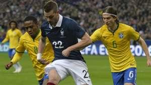 Filipe Luis Elias Morgan Schneiderlin France Brazil Friendly 26032015