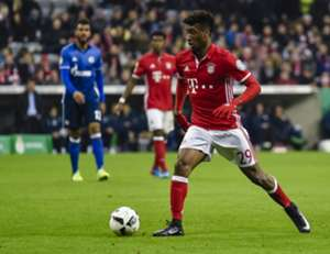 Kingsley Coman in action during FC Bayern Munich v FC Schalke 04, on March 1, 2017