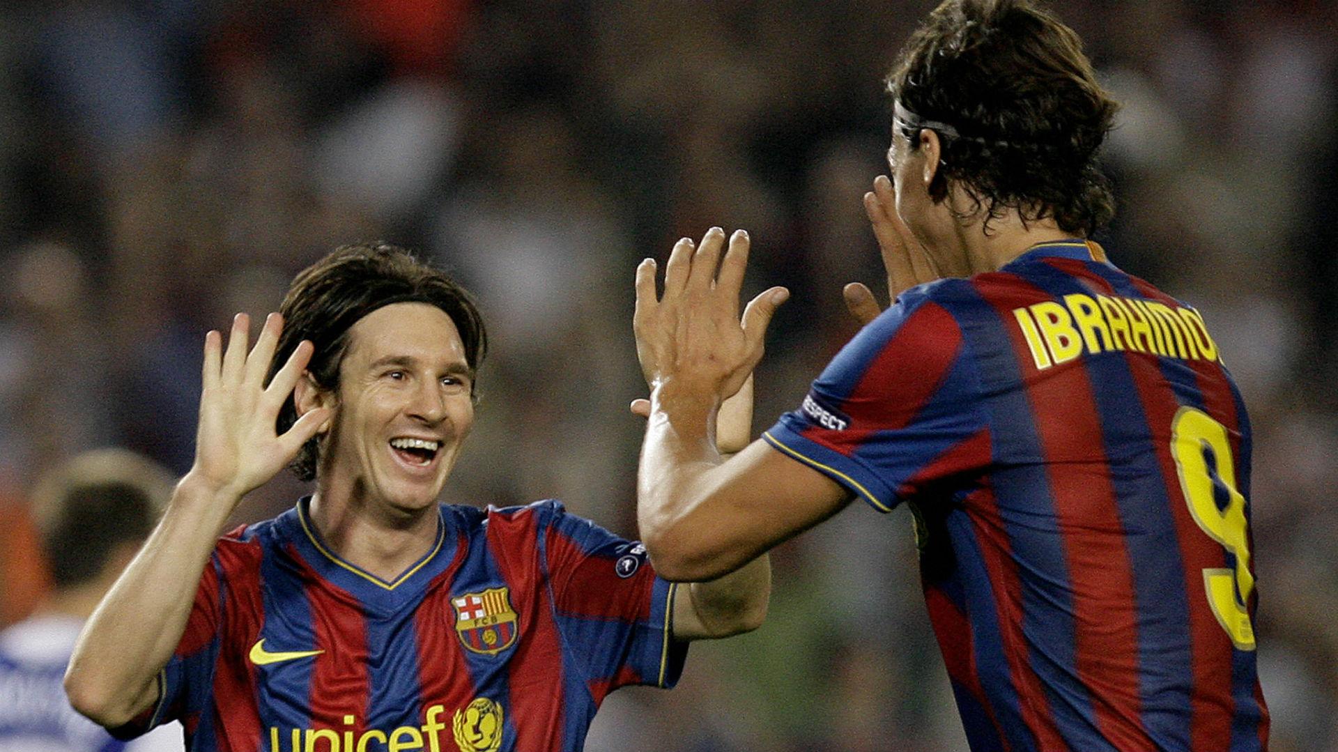 Ibrahimovic Messi Barcelona