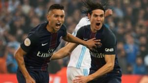 Marquinhos Edinson Cavani Marseille PSG Ligue 1 26022017