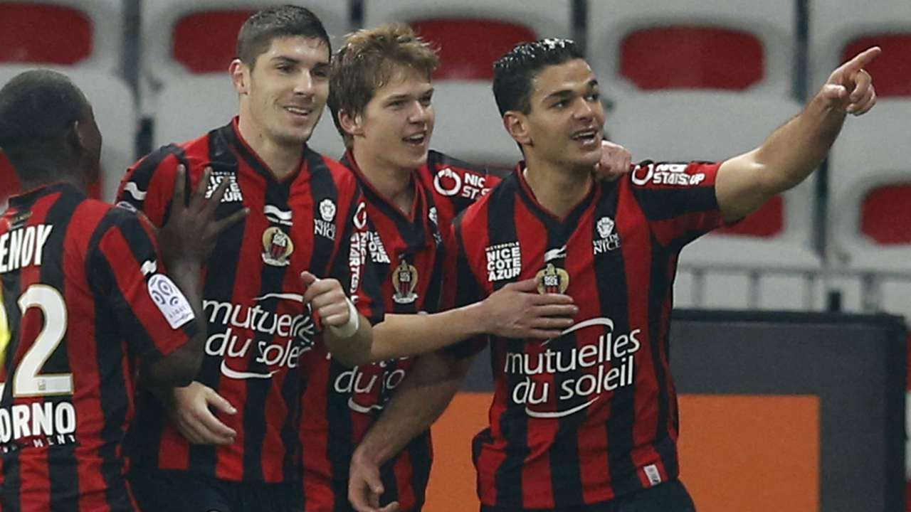 Vincent Koziello Jeremy Pied Hatem Ben Arfa Nice Lorient Ligue 1 23012016