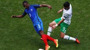 Patrice Evra Shane Long France Ireland UEFA Euro 2016 26062016