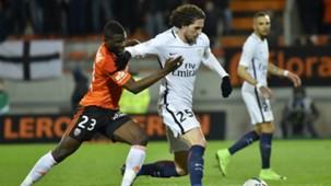 Wakaso Rabiot Lorient PSG Ligue 1 12032017