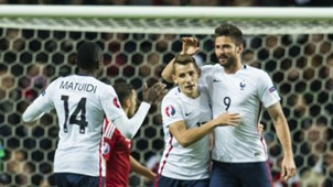 Olivier Giroud Lucas Digne Anthony Martial Denmark France Friendly 11102015