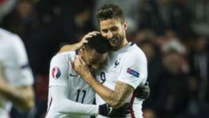 Olivier Giroud Anthony Martial Denmark France Friendly 11102015