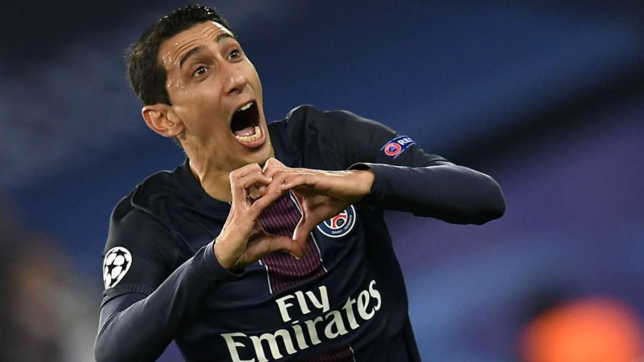Angel Di Maria Paris SG FC Barcelona UEFA Champions League 14022017