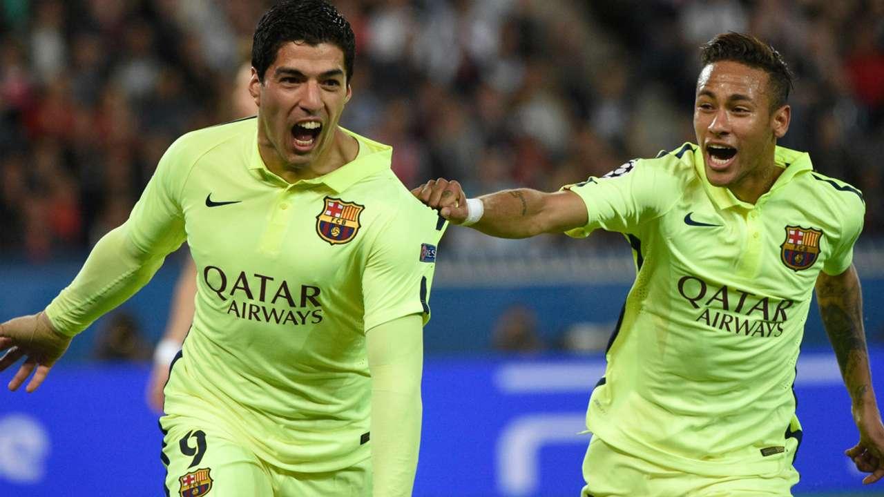 Luis Suarez Neymar Paris SG Barcelona UEFA Champions League 15042015