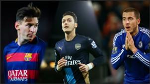 Montage Messi Ozil Hazard