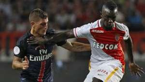 Marco Verratti Adama Traore AS Monaco Paris SG Ligue 1 30082015
