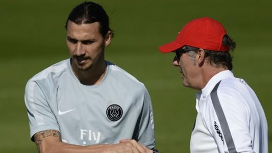 Laurent Blanc Zlatan Ibrahimovic Paris SG Ligue 1