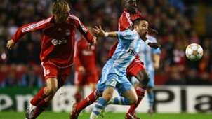 Mathieu Valbuena Momo Sissoko Sami Hyypia Liverpool Marseille UEFA Champions League 03102007