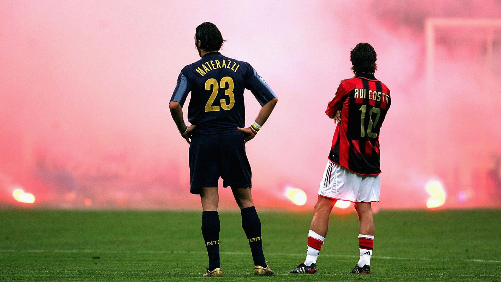 Marco Materazzi Rui Costa Inter Milan 2015