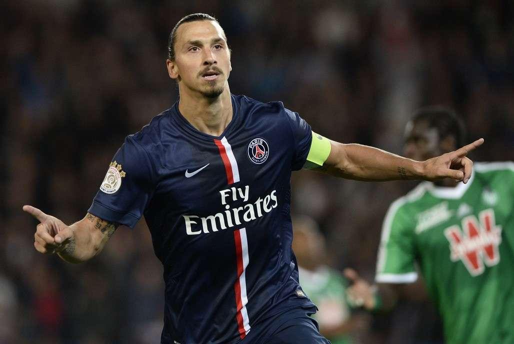 Zlatan Ibrahimovic Paris SG Saint-Etienne Ligue 1 08312014