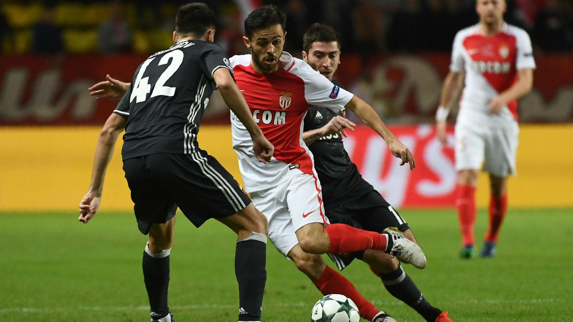 Bernardo Silva Georgi Shchennikov AS Monaco CSKA Moscow UEFA Champions League 02112016